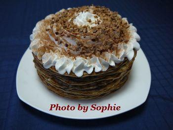 チョコレート・クレープケーキ