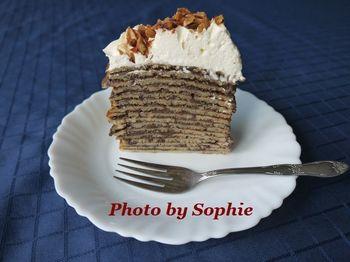 チョコレート・クレープケーキ(スライス)