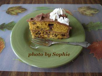 チョコレート・パンプキン・レイヤーケーキ(スライス)