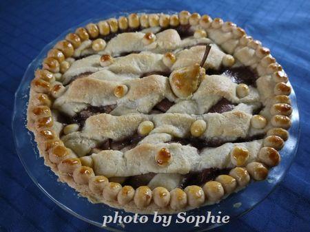 洋梨と石榴のパイ
