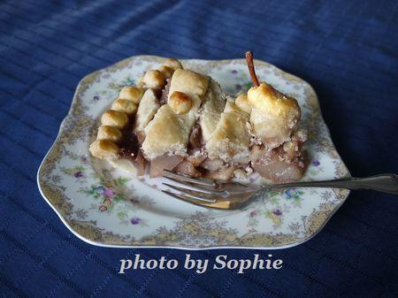 洋梨と石榴のパイ(スライス)