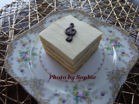ホワイトチョコレート・オペラケーキ(スライス)