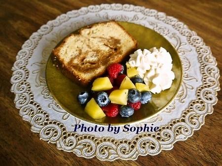 ドゥルセ・デ・レチェ入りパウンドケーキ(スライス)